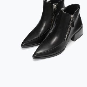 Zara woman double zip boots